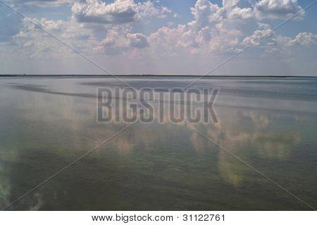 Salt Lake Under Cloudy Sky
