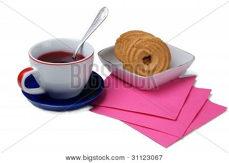 Cup Of Tea And Cookies.