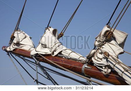 Foresail On A Old Schonner
