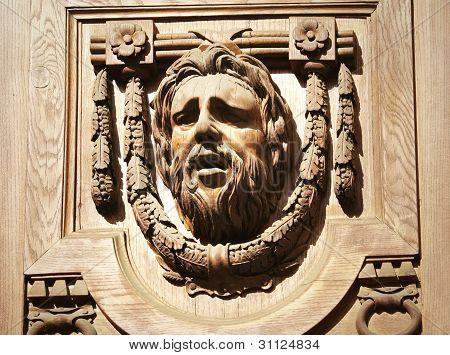Face Sculpture Doorway