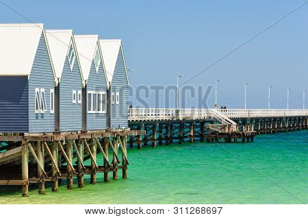 The Iconic Busselton Jetty Is 1841 Meters Long, Which Makes It The Second Longest Wooden Jetty In Th