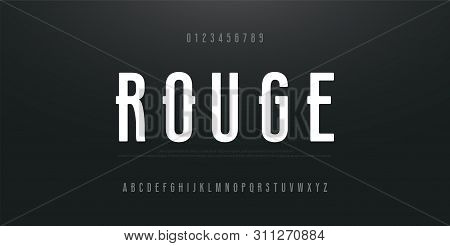 Urban Modern Alphabet Font And Number. Typography Simple Condensed High, Tall Multi Purpose Typeface
