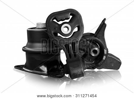 Engine And Transmission Mount Concept - Set Of Engine And Transmission Gear Mount Of Car On Shadow F