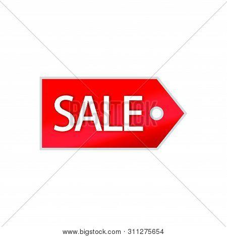 Sale Tag Vector Badge Template, Sale Label Symbol, Clearance Sale Sticker Emblem, Bargain Sale Red S