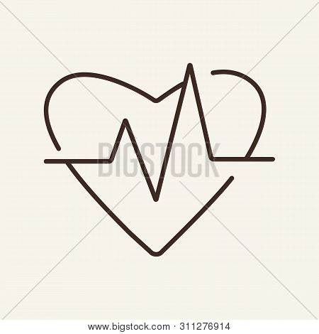 Pulse Line Icon. Heart Beat, Cardiogram, Pacemaker. Medicine Concept. Vector Illustration Can Be Use