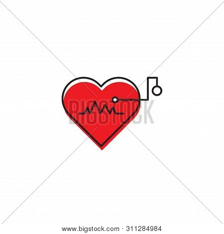 Artificial Cardiac Pacemaker Vector Icon Concept, Isolated On White Background