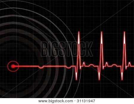 Heart beating again in editable format