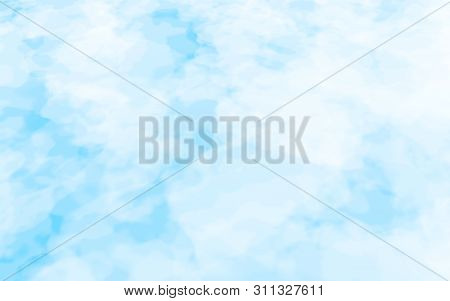 The Bright Sky In The Morning. Blue Sky Background With White Clouds. Cumulus White Clouds In The Cl