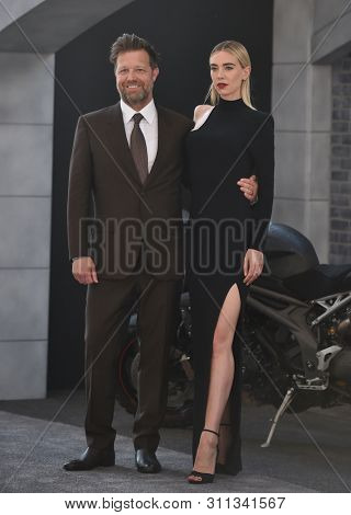LOS ANGELES - JUL 13:  David Leitch and Vanessa Kirby arrives for the 'Fast & Furious Presents: Hobbs and Shaw' World Premiere on July 13, 2019 in Hollywood, CA
