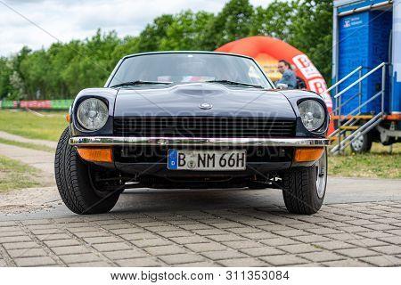 Paaren Im Glien, Germany - June 08, 2019: Sports Car Datsun 240z (nissan S30). Die Oldtimer Show 201