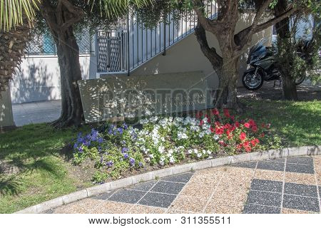 Nice, France - June 2, 2019: Monument Of Victory Of Freedom And Peace Over Enslavement And Dictators