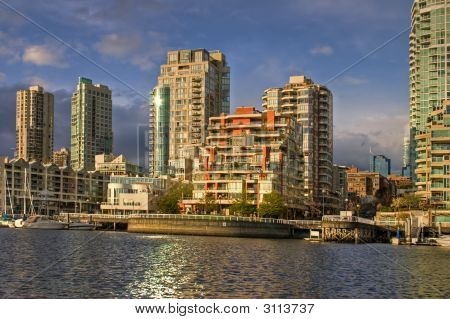 Downtown Vancouver Condos, Seen From Granville Island