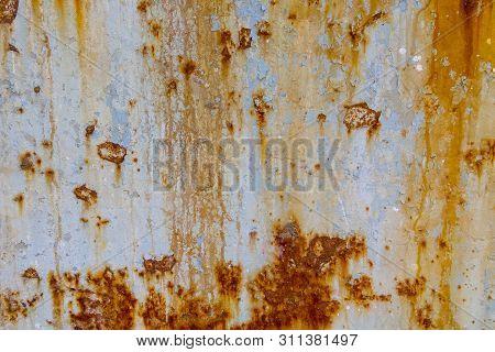 Dark Worn Rusty Metal Texture Background. Rust Texture On Metal Sheet Abstrack Background Concept. O