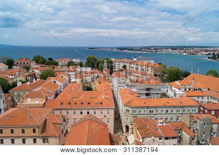 Zadar In Croatia From The Perspective Of Sv.stosije Cathedral