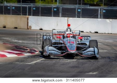 July 13, 2019 - Toronto, Ontario, CAN: WILL POWER (12) of Australia practices for the Hondy Indy Toronto at Streets of Toronto in Toronto, Ontario.