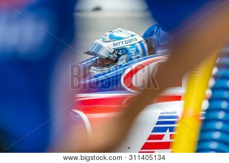 July 13, 2019 - Toronto, Ontario, CAN: TONY KANAAN (14) of Brazil prepares to qualify for the Hondy Indy Toronto at Streets of Toronto in Toronto, Ontario.