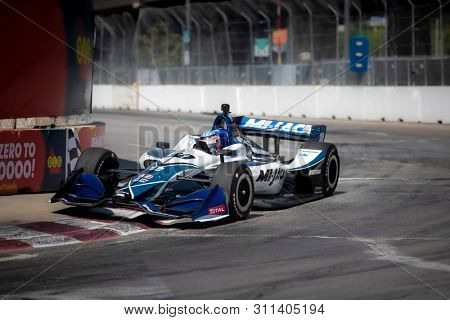 July 13, 2019 - Toronto, Ontario, CAN: TAKUMA SATO (30) of Japan practices for the Hondy Indy Toronto at Streets of Toronto in Toronto, Ontario.