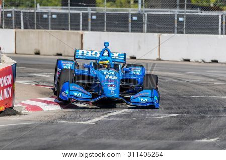 July 13, 2019 - Toronto, Ontario, CAN: SEBASTIEN BOURDAIS (18) of France practices for the Hondy Indy Toronto at Streets of Toronto in Toronto, Ontario.