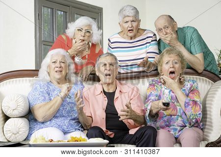 Six Senior Friends Reacting To Bad News Television