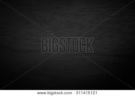 Black Wooden Wall Texture Background.