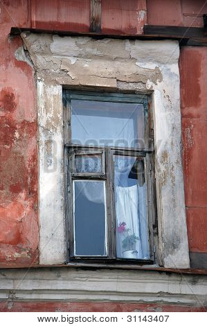 Traditional window in Russian house