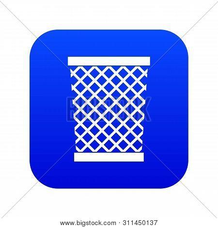 Wastepaper Basket Icon Digital Blue For Any Design Isolated On White Illustration