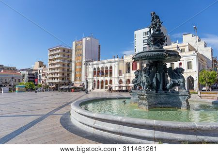 Patras, Greece - July 5: Georgiou I Square (plateia Vasileos Georgiou) On July 5, 2019 In Patras. Ge