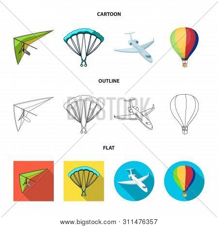 Isolated Object Of Transport And Object Sign. Collection Of Transport And Gliding Vector Icon For St
