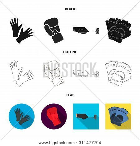 Vector Illustration Of Knitted And Keeper Icon. Set Of Knitted And Hand Stock Vector Illustration.