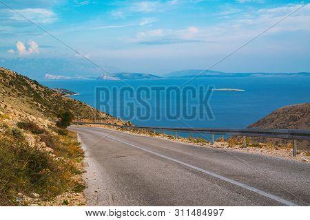 Mountain Road Near Stara Baska , Krk Island , Croatia
