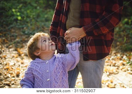 Trust And Support. Feeling Support From Parent. My Father Is My World. Parental Support. Help Kid Ex