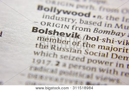 Word Or Phrase Bolshevik In A Dictionary