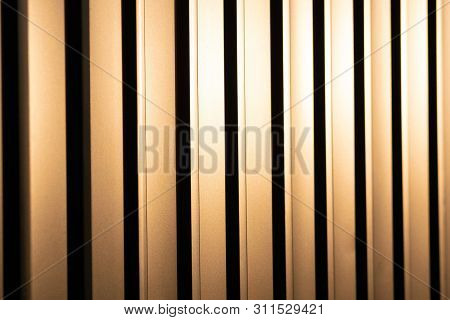 Profiled Sheet Yellow Metal Fence. Protection Against Breaking.
