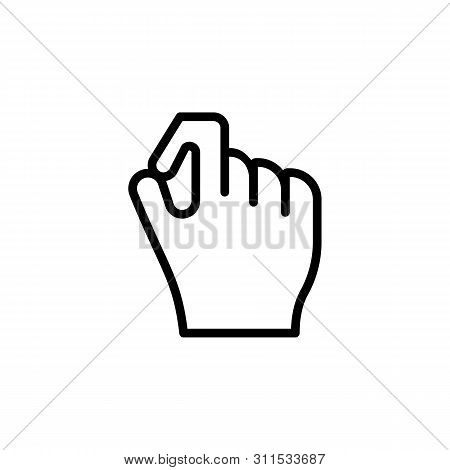 Hand Okay All Right Gesture Outline Icon. Element Of Hand Gesture Illustration Icon. Signs, Symbols