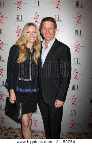 LOS ANGELES - MAR 16:  Lauralee Bell, Brad Bell arrives at the Young & Restless 39th Anniversary Party hosted by the Bell Family at the Palihouse on March 16, 2012 in West Hollywood, CA