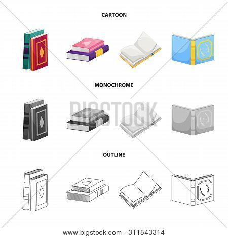 Vector Design Of Training And Cover Logo. Set Of Training And Bookstore Stock Vector Illustration.