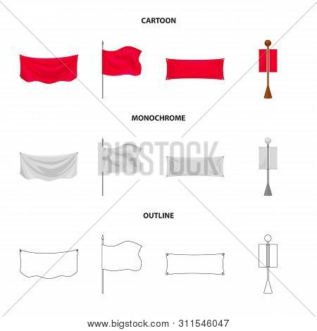 Isolated Object Of Texture And Presentation Logo. Collection Of Texture And Media Stock Vector Illus