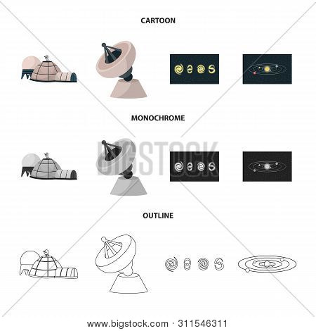 Vector Illustration Of Astronomy And Technology Icon. Set Of Astronomy And Sky Stock Vector Illustra