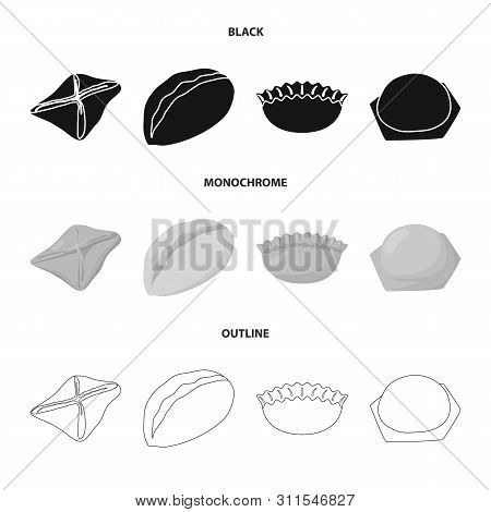 Vector Design Of Products And Cooking Symbol. Set Of Products And Appetizer Stock Vector Illustratio