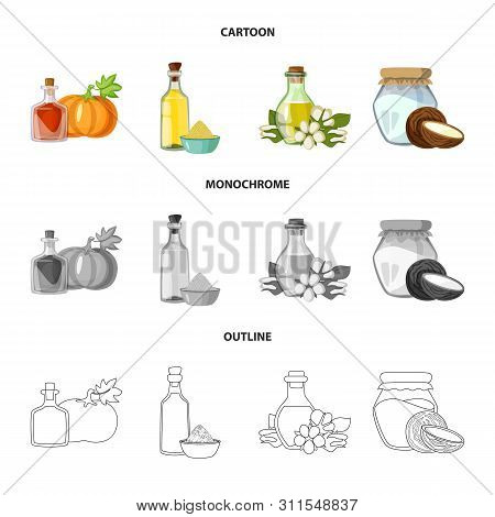 Isolated Object Of Healthy And Vegetable Icon. Set Of Healthy And Agriculture Stock Vector Illustrat