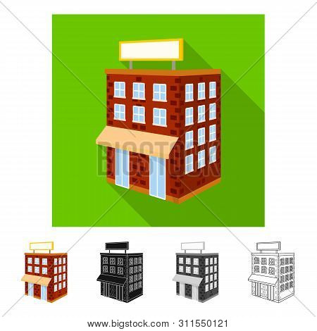 Vector Design Of House And Residential Icon. Collection Of House And Town Vector Icon For Stock.