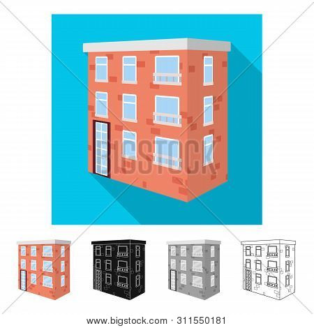 Vector Illustration Of House And Residential Sign. Collection Of House And Apartment Stock Vector Il