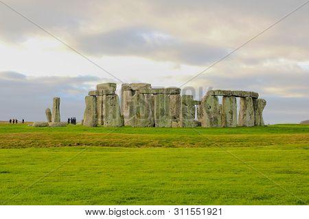 The Stones Of Stonehenge, A Prehistoric Monument In Wiltshire, England. Unesco World Heritage Sites.