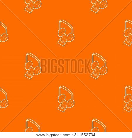Audio Guide Pattern Vector Orange For Any Web Design Best