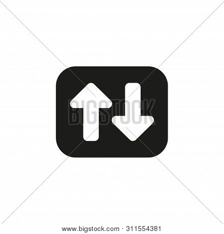 Up, Down Arrow Icon. Vector Illustration, Flat Design.