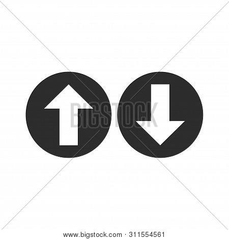 Up, Down Arrow Icon. Vector Illustration, Flat Design.