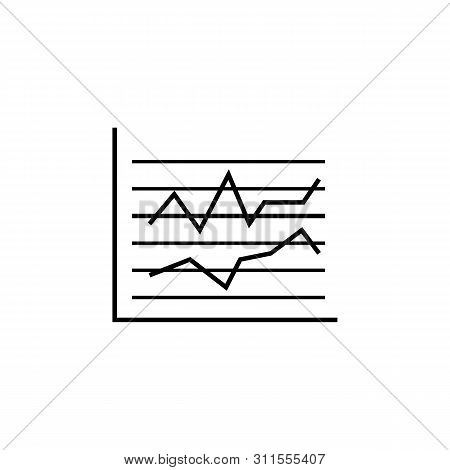 Business stats finance outline icon. Element of finance illustration icon. signs, symbols can be used for web, logo, mobile app, UI, UX poster