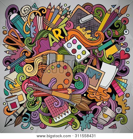 Cartoon Vector Doodles Art And Design Illustration.