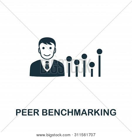 Peer Benchmarking Icon Symbol. Creative Sign From Business Management Icons Collection. Filled Flat