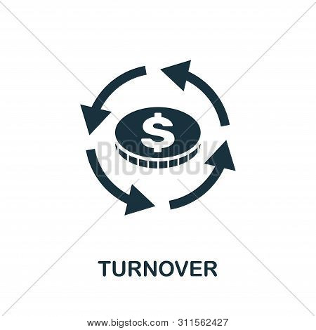 Turnover Vector Icon Symbol. Creative Sign From Business Management Icons Collection. Filled Flat Tu